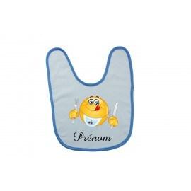 Bavoir bébé personnalisé smiley et prénom
