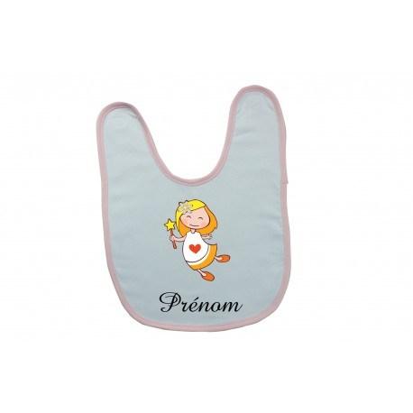 Bavoir bébé personnalisé vierge et prénom