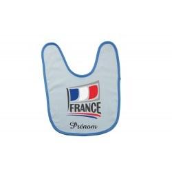 Bavoir personnalisé avec le drapeau Français