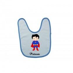 Bavoir personnalisé mini superman et prénom