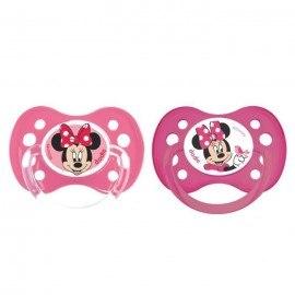 Tétine personnalisée Disney avec Minnie lot de 2 (taille 6 mois)